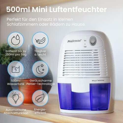 Pro BreezeTM 500ml kompakter und tragbarer Mini Luftentfeuchter - 2