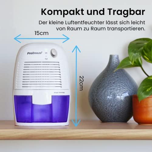 Pro BreezeTM 500ml kompakter und tragbarer Mini Luftentfeuchter - 4