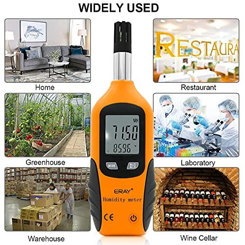 Sunray Psychrometer Thermo-Hygrometer Digital Temperatur und Luftfeuchtigkeit Meter Thermometer Hygrometer mit Taupunkt und Feuchtkugel - 5