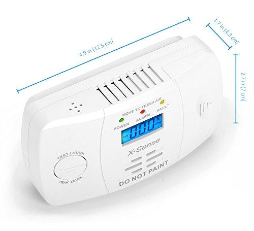 X-Sense Kohlenmonoxidmelder CO Melder Carbon Monoxide CO Detector mit Digitaler Anzeige, Batteriebetrieben, CO03M - 4