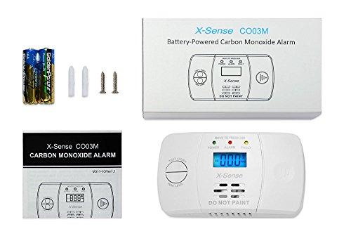 X-Sense Kohlenmonoxidmelder CO Melder Carbon Monoxide CO Detector mit Digitaler Anzeige, Batteriebetrieben, CO03M - 7