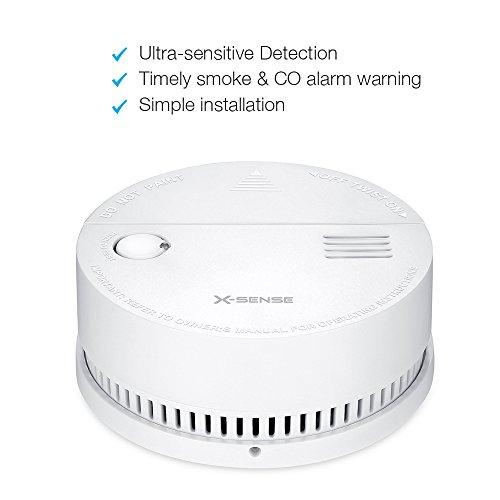 X-Sense DS51 Kombinierter CO Melder Kohlenmonoxidmelder und Rauchmelder, Batteriebetrieben, [5-er Set] - 3
