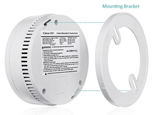 X-Sense DS51 Kombinierter CO Melder Kohlenmonoxidmelder und Rauchmelder, Batteriebetrieben, [5-er Set] - 6