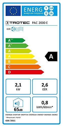 TROTEC Lokales Klimagerät PAC 2000 E mit 2,1 kW (7.200 Btu) - 6