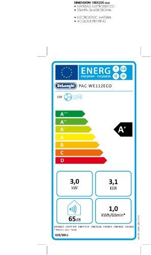 De'Longhi PAC WE 112 Mobiles Klimagerät – Wasser-Luft-Technologie – [Energieklasse EEK A+] - 3