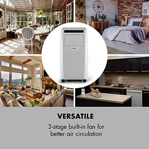 Metrobreeze Rom Mobile Indoor Fenster-Klimaanlage multifunktional inkl. Fensterabdichtungs-Set für Klapp- oder Schiebefenster (einstellbare Temperatur: 18 bis 30 °C, 10000 BTU, EEK A+, Fernbedienung, Timer, Ventilator-Funktion, integr. Bodenrollen) weiß - 7