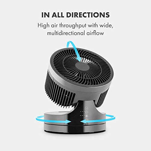 Klarstein • Touchstream • Ventilator • Tischventilator • Mini Ventilator – mit Fernbedienung schwarz - 4