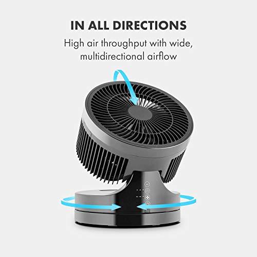 Klarstein • Touchstream • Ventilator • Tischventilator • Mini Ventilator – mit Fernbedienung schwarz - 3