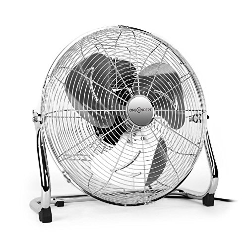 oneConcept • Metal Blizzard XXL • Ventilator • Bodenventilator • Standventilator - silber