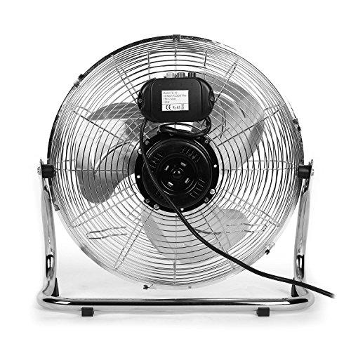 oneConcept • Metal Blizzard XXL • Ventilator • Bodenventilator • Standventilator – silber - 4
