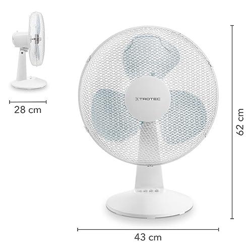 TROTEC Tischventilator TVE 15 | Automatische 100°-Oszillation mit Abschaltfunktion weiß - 4