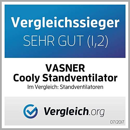 VASNER leiser Stand-Ventilator Cooly mit Ultraschall-Sprühnebel Wasser & Fernbedienung - 4