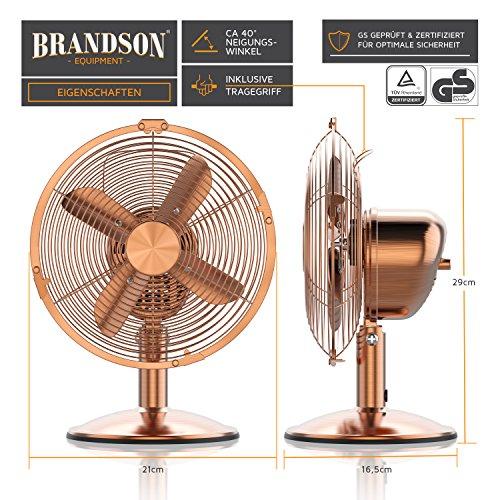 Brandson – Retro Tischventilator im Kupfer Design - 2