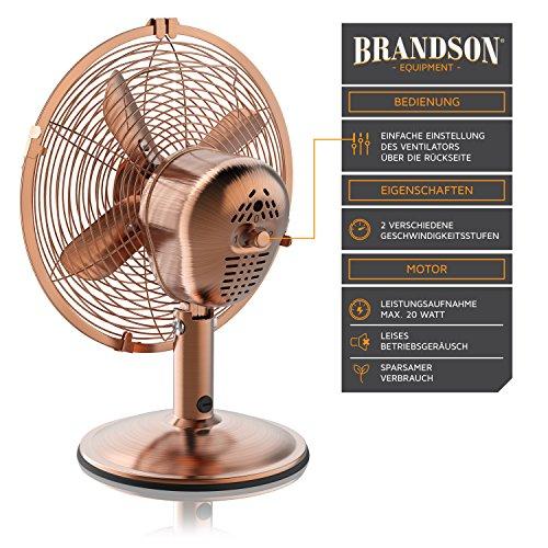 Brandson – Retro Tischventilator im Kupfer Design - 3