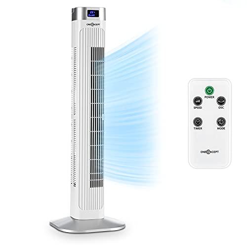 oneConcept • Hightower 2G • Säulenventilator • Standventilator • Turmventilator - weiß