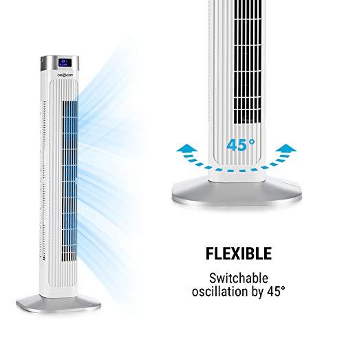 oneConcept • Hightower 2G • Säulenventilator • Standventilator • Turmventilator – weiß - 3