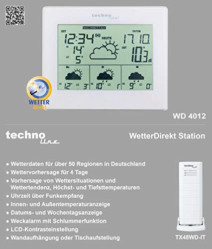 technoline Wetterdirekt Wetterstation WD 4012 - 4