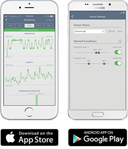 SensorPush – kabelloses smartes Thermometer und Hygrometer für iPhone / Android - 6