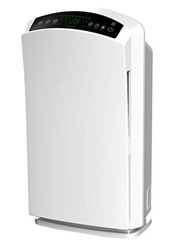 Baren B-H03 Luftreiniger - sehr leise - mit HEPA-Filter, Feinstaubsensor, Ionisator, Aktivkohle, Ozonreinigung und Nacht-Funktion, ideal für Allergiker