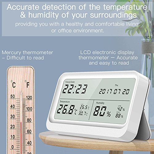 Digitales Thermo-Hygrometer AngLink Thermometer Hygrometer - 5