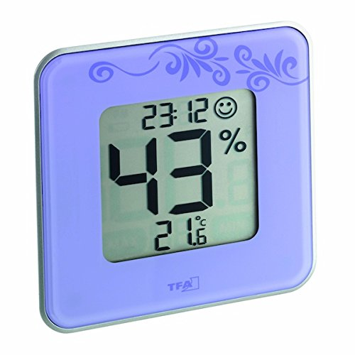 TFA Dostmann digitales Thermo-Hygrometer Style 30.5021.11, lila mit Ornament - 2