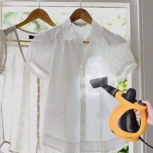 Dampfreiniger, Ymiko Handdampfreiniger inkl. 9-teiligem Zubehör, Handdampfreiniger für Bad u. Badezimmer, Boden, Fenster,Teppiche - 9