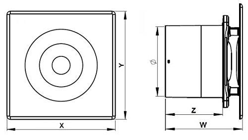 Bad-Lüfter Wand-Ventilator Ø 100 Feuchtesensor / Timer Escudo Silent System+ (PEB) - 2
