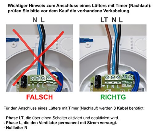 Bad-Lüfter Wand-Ventilator Ø 100 Feuchtesensor / Timer Escudo Silent System+ (PEB) - 3