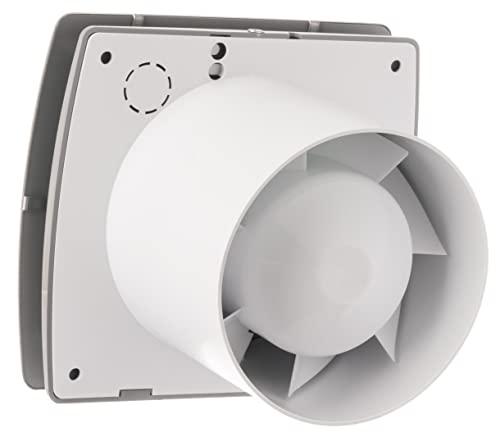 Bad-Lüfter mit Feuchtesensor und Timer , Ventilator, Leise 100 mm, INOX , T100HTI , Europlast - 5