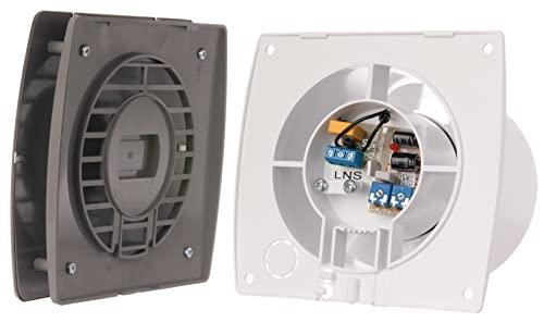 Bad-Lüfter mit Feuchtesensor und Timer , Ventilator, Leise 100 mm, INOX , T100HTI , Europlast - 4