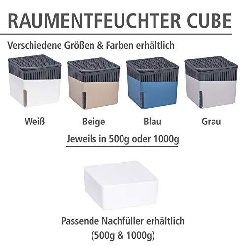 Wenko 50220100 Design Raumentfeuchter Cube 1000 g Luftentfeuchter, Fassungsvermögen 1.6 L, Ø 16.5 x 15.7 cm, weiß - 8