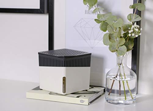 Wenko 50220100 Design Raumentfeuchter Cube 1000 g Luftentfeuchter, Fassungsvermögen 1.6 L, Ø 16.5 x 15.7 cm, weiß - 9