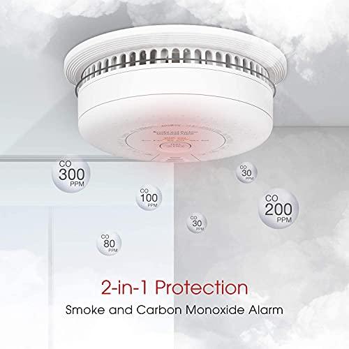 X-Sense Rauch- Kohlenmonoxid Melder, 10 Jahre Batterie, Kombinierte Rauch- & CO-Melder, mit Prüftaste, nach EN14604 & EN50291 Standard Zertifiziert, SC03 - 2