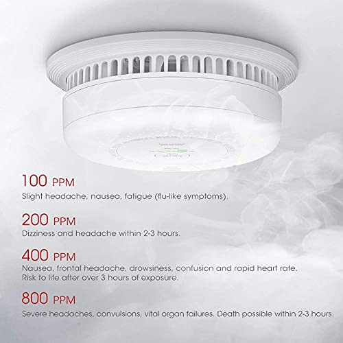 X-Sense Rauch- Kohlenmonoxid Melder, 10 Jahre Batterie, Kombinierte Rauch- & CO-Melder, mit Prüftaste, nach EN14604 & EN50291 Standard Zertifiziert, SC03 - 9
