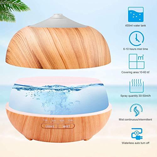 Tenswall 400 ml Luftbefeuchter Ultraschall Diffuser Aromatherapie Luftbefeuchter Ätherische Öle Luftbefeuchter - 2