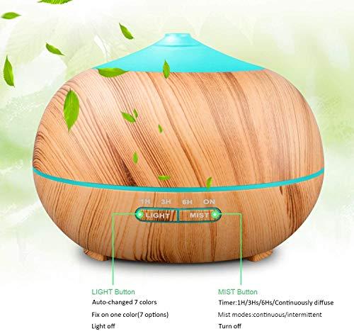 Tenswall 400 ml Luftbefeuchter Ultraschall Diffuser Aromatherapie Luftbefeuchter Ätherische Öle Luftbefeuchter - 5