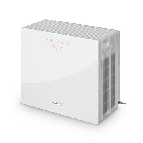 Klarstein PurePal - Luftwäscher, Luftreiniger, Luftbefeuchter, Lufterfrischer, Air-Purifier, Leistung 15 Watt, Aktivkohlefilter, 3 Liter Wassertank, Touch-Bedienfeld, weiss - 7