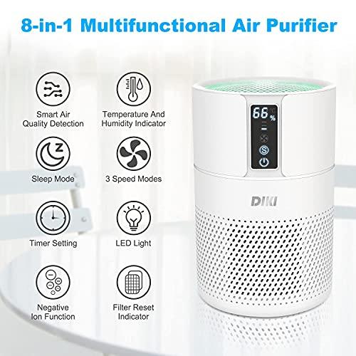 Luftreiniger DIKI Air Purifier mit HEPA-Kombifilter, Aktivkohlefilter und Ionisierer - 2