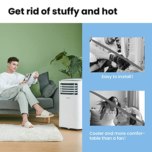 Comfee MPPH-09CRN7 Mobiles Klimagerät, 1280 W, 230 V, weiss, 35,5 x 34,5 x 70,3cm (BTH) - 2