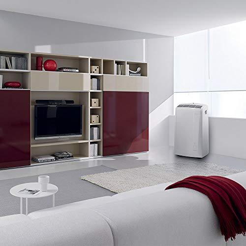 De'Longhi Pinguino PAC N82 Eco Silent - mobiles Klimagerät mit Abluftschlauch, leise Klimaanlage für Räume bis 80 m³, Luftentfeuchter, Ventilationsfunktion, 12h-Timer, 2,4 KW, 75 x 45 x 39,5 cm, weiß - 4