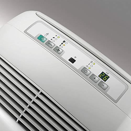 De'Longhi Pinguino PAC N82 Eco Silent - mobiles Klimagerät mit Abluftschlauch, leise Klimaanlage für Räume bis 80 m³, Luftentfeuchter, Ventilationsfunktion, 12h-Timer, 2,4 KW, 75 x 45 x 39,5 cm, weiß - 5