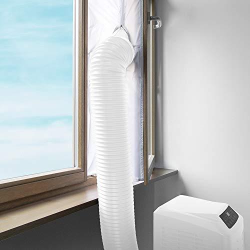 Klarstein Pure Blizzard 3 2G - Klimaanlage, 3-in-1: Kühlung, Ventilator, Luftentfeuchter, Timer, geräuscharm, 17-30°C, Energieeffizienzklasse A, 7.000 BTU/2,1 kW, bis 34 m³, Fernbedienung, weiß - 3