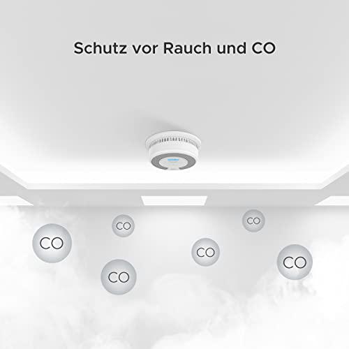 X-Sense Rauch- CO Melder 10 Jahrer Rauch- und Kohlenmonoxid-Melder, mit LCD Anzeige und Prüftaste, 360°Überwachung, Auto-Überprüfung, SC07 - 4