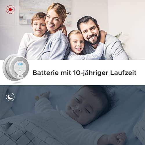 X-Sense Rauch- CO Melder 10 Jahrer Rauch- und Kohlenmonoxid-Melder, mit LCD Anzeige und Prüftaste, 360°Überwachung, Auto-Überprüfung, SC07 - 3