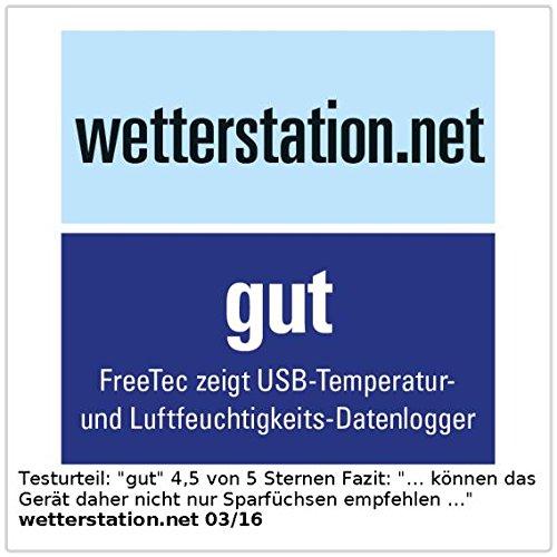 FreeTec USB-Temperatur- und Luftfeuchtigkeits-Datenlogger - 5