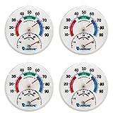 Lantelme 6136 Thermohygrometer 4 Stück zur Überwachung von Temperatur und Luftfeuchte gegen Schimmelbildung