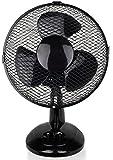 Ø23cm Tischventilator 25 Watt | Ventilator | leiser Betrieb | Rotation zuschaltbar | oszillierend | Windmaschine | Luftkühler | Lüfter | geeignet für Schlafzimmer, Büro