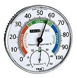 TFA 45.2030.42 Präzisions-Hygrometer Klimatest, Chrom