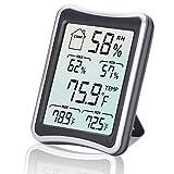 Digitales Thermo-Hygrometer, E2Buy Großer LCD Bildschirm Digital Thermometer, Digitaler Hygrothermograph, Temperatur und Feuchtigkeitsmonitor mit MIN / MAX Aufzeichnungen