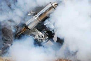Kohlenmonoxid in Auspuffabgasen